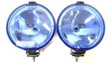 2x Fernscheinwerfer Halogen Blau Rund LED Ring 12/24V Positionslicht ⌀183 mm SET