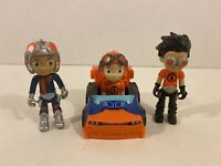 Rusty Rivets Lot of Figures & Racer Car Vehicles Spin Master