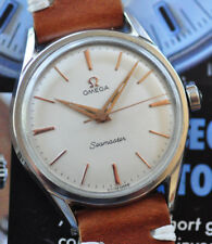 Vintage 1959 Omega Seamaster Watch Serviced C285 STUNNING Silver Dial Runs Great