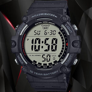 Casio AE1500WH-1AV WIDE FACE Digital Watch 100M WR 10 Year Battery 5 Alarms New
