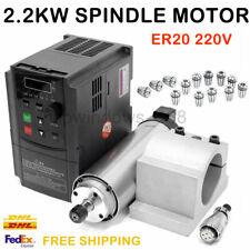 2.2KW Spindle Motor Air Cooled 24000RPM ER20 Collet VFD Inverter Mount Bracket