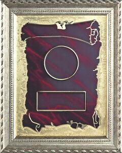 Ehrentafel (Rot-Gold) mit Wunschgravur und Wunschemblem