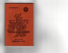 Glass's Guide To Used Car Values March 1952 No 152 1935 - 1952