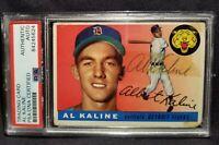 1955 Topps AL KALINE #4 EARLY CAREER Signed Card Detroit Tigers vtg Auto HOF PSA
