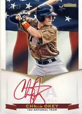 2012 Team USA Baseball CHRIS OKEY Red Autograph Auto 19/25 Reds