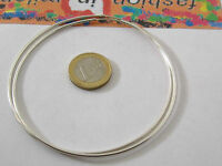 1 paio di orecchini in argento 925 cerchi molto grandi diametro 70 mm