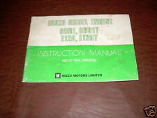 ISUZU DIESEL ENGINE INSTRUCTION MOTOR MANUAL