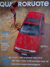 Quattroruote  416 1990 La Volvo 460 berlina a 3 volumi. Mazda anti Porsche Q.59]