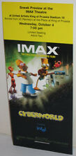 THE SIMPSONS CYBERWORLD MOVIE THEATER SNEAK PREVIEW IMAX PROMO TICKET 2000