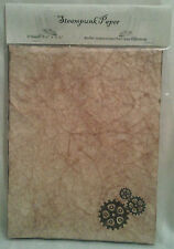 Steampunk Gears Themed Antiqued Paper - 10 Sheets