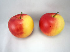 2 Red Yellow Apples Kitchen Fruit Home Decor Faux Fake Theater Props Staging