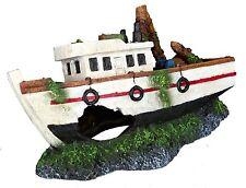 Fishing Boat Aquarium Ornament Sea Trawler Wreck Tug Boat Fish Cave Decoration