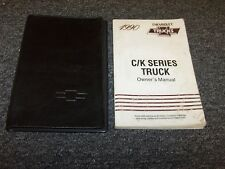 1990 Chevy Silverado C K 1500 2500 3500 Truck Owner Owner's Operator Manual Set