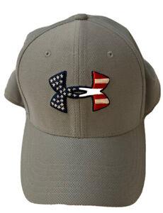Under Armour Heatgear Men Pro Fit Hat USA Freedom ~Gray ~ Size M/L NWOT