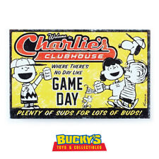 Peanuts Charlies Clubhouse Game Day Hallmark Tin Metal Sign Charlie Brown Snoopy