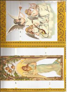 Mamelok Embossed Die Cut Scrap Reliefs A4 Decoupage (877-39/40) Christmas