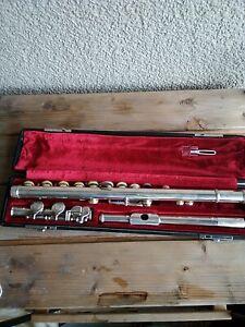 Alte Vintage Querflöte Yamaha 411 Vintage Silber  Vollsilber 800  Flute Flute