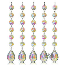 10PCS Colorful Crystal PIPA Pendant Chandelier Lamp Prisms Part Home Decor 38MM