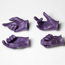 Custom Joker 1/6 Gloved Palms Hands for Hot Toys Body DX11 Suit Set