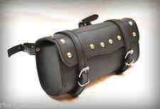 Sacoche de fourche / sac trousse à outils Cuir Rond clous pour moto custom trike