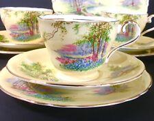 China Taza de Té Platillo Conjunto de Colección Meriendas British Aynsley England