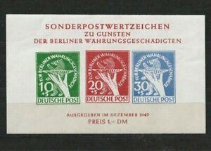 Block1 Berlin 1949 Sonderpostwertzeichen für Währungsgeschädigte! !!!!!LESEN!!!