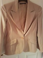 River Island Size 12 Beige Jacket Worn Once Immaculate