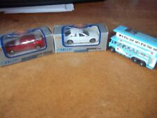 2 x Welly 1:60 series BMW 328i Mercedes-Benz + Lledo Promotional bus FREE POST
