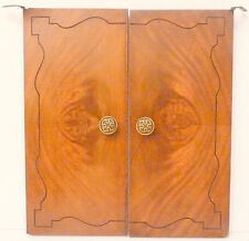 PATHE GRAMAPHONE / VICTROLA part: QUALITY SET OF FRONT DOORS 14 & 7/8 x 16 & 1/2