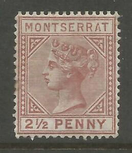 MONTSERRAT SG4 THE 1880 VICTORIAN 2.5d RED BROWN MINT CAT £250