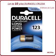 10 batterie CR123A 3V speciale macchina fotografica Duracell