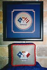 Ewe All and Udders PATRIOTIC ANGEL Cross Stitch Chart/Leaflet Only ~2 variations