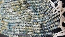 """AAA NATURAL AQUAMARINE RONDELLE MICRO FACETED 4-6 MM 13"""" GEMSTONE BEADS"""