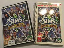PC MAC DVD-ROM AMBITIONS EXPANSION PACK +PRIMA ESSENTIAL GUIDE for THE SIMS 3