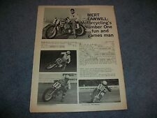 1970 Mert Lawwill AMA Champion Flat Track Champion Article Harley-Davidson