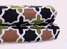 2.5 Yard Screen Printed Fabric Indian Natural Cotton Sanganeri Fabric Sewing