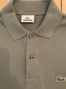 Mens Khaki Lacoste Polo Shirt Size 3 Small