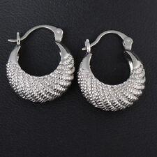 Women's Fashion 925 Silver Fish Hoop Stud Dangle Earrings Jewelry Gift