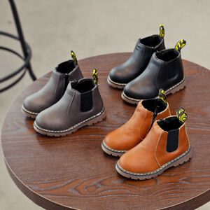 Kids Martin Boots Snow Ankle Boot Boys Girl Toddler Waterproof Shoes Plus Cotton