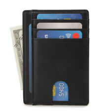 Slim Minimalist Front Pocket RFID Blocking Black Wallets for Mens Wallet
