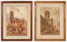 Henry Carlton (19th c.) 2 Watercolor Paintings Lot 346