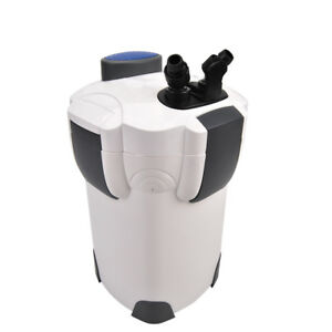 New 3-Stage External Aquarium Filter 265GPH 75Gal with builtin pump kit CANIST