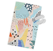 Moderno Abstracto Estilo Microfibra Toalla de Playa Diseñador Rosa