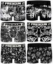 FREEGUN Lot de 6 Boxers Microfibre Shorty Homme FGP66