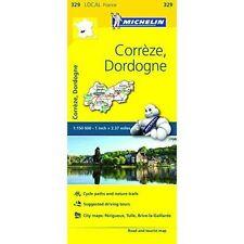CORREZE DORDOGNE  MAP MICHELIN 329 - NEW - FRANCE LOCAL MAP - TOURIST MAP
