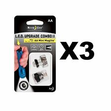 Nite Ize LED Combo Upgrade Kit II for AA Mini Maglite Incandescent (3-Pack)