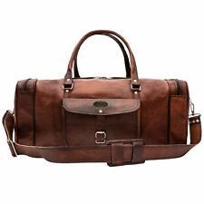 Handmade Vintage Leather Travel Luggage Duffel Gym Overnight Weekender Bag