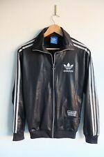 Rare Adidas Chile 62' Tracksuit jacket XS Black/Silver trefoil wetlook Glossy
