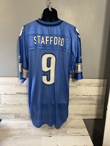 Reebok Matthew Stafford NFL Authentic Onfield Detroit Lions Jersey  Size 2xl