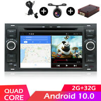 2 DIN Android 10 Car Radio Stereo BT 5.0 GPS WIFI DAB For Ford Kuga Galaxy Fiest